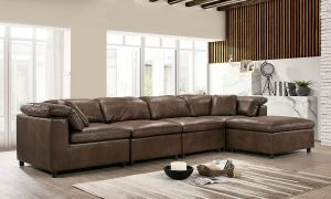 Tamera Faux Leather Sectional - Modular Design