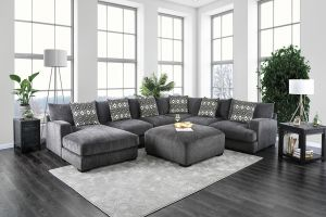 Kaylee Sectional Collection - Gray Fabric