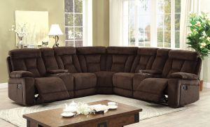Maybell Motion Sectional Collection - Brown or Mocha
