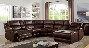Jessie Sectional Collection - Brown Leatherette