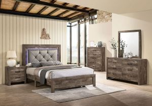 Larissa Bedroom Collection - Padded HB with LED Lights