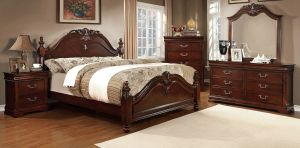Mandura Traditional Bedroom Collection - Cherry Finish