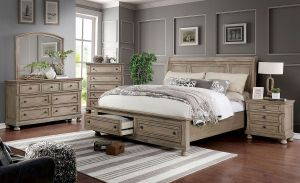 Willa Bedroom Collection Storage Foot-board - Grey Finish