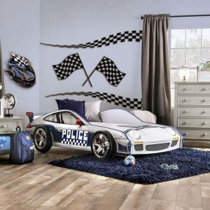 POE Police Squad Car Twin Bed - Working Lights