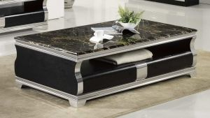 Cheyenne Faux Marble Top Coffee Table