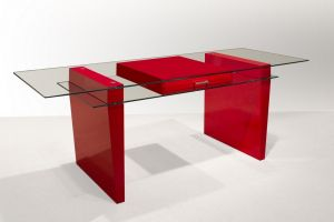 Crystal Modern Desk - 3 Color Choices