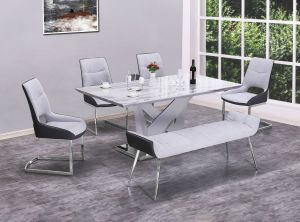 Ladera 6 Pc Dining Collection - Faux Marble Top