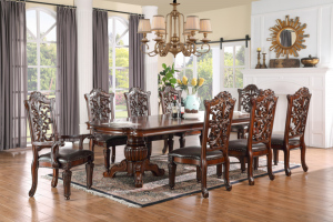 Marrakech 9 Pc Dining Collection - Double Pedestal Table