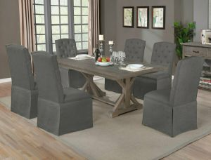 Havasu 7 Pc Dining Collection - Skirt Chairs