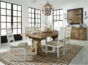 Grindleburg Dining Collection - Cottage Inspired Reclaimed Pine Wood
