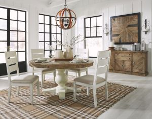 Grindleburg 5 Pc Round Table Dining Collection - Cottage Inspired