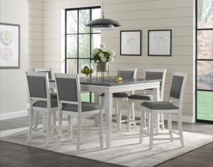Del Mar Dining Collection - White & Grey Finish