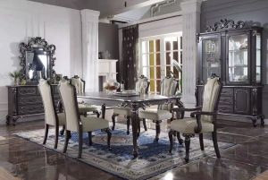House Delphine Dining Collection - Charcoal Finish
