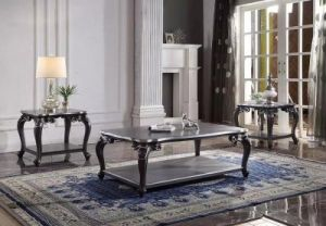 House of Delphine Occasional Tables - Charcoal Finish