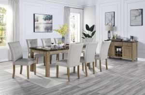 Charnell Dining Collection Marble Top Table
