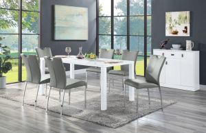Pagan 7 Pc Contemporary High Gloss Dining Collection