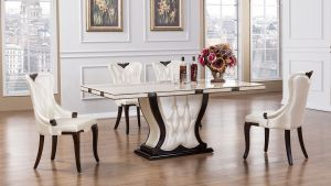 Brianna Dining Collection - Faux Marble Top