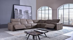 Ladera Tan Top Grain Italian Leather Sectional - Power Recliner