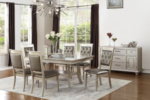 Randolph 7 Pc Dining Collection - Silver Finish