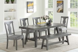 Mohave 6 Pc Dining Collection - Saw Tooth Engraving