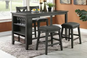 Garmen 5 Pc Dining Collection - 2 Chair Choices