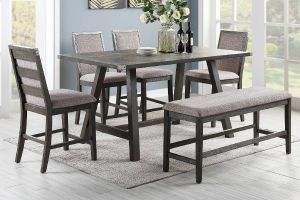 Aramis 6 Piece Weathered Grey Dining Collection