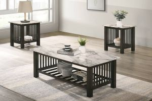 Coffee & End Tables - Faux Marble Top