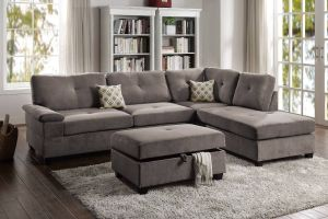Journey 2 Pc Reversible Sectional - Charcoal or Truffle
