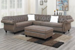 Alamo 4 Pc Sectional - Dark Coffee or Slate Grey