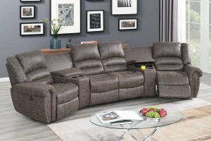 Yuma Power Motion Sectional Collection - Taupe Palomino