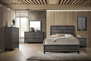 Keith 4 Pc Bedroom Collection - Dark Brown Finish