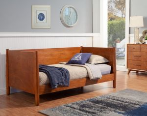 Flynn Mid Century Modern Twin Size Day Bed - 2 Finishes