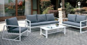 India 4 Pc Patio Collection - 2 Cushion Colors