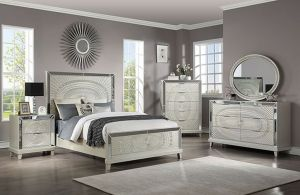 Valletta Glam Bedroom Collection - Champagne Finish
