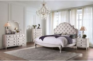 Esther Bedroom Collection - Antique White Finish