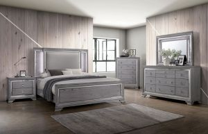 Alanis Contemporary Bedroom Collection - LED Headboard