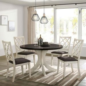 Haleigh Round Table 5 Pc Dining Collection - Antique White