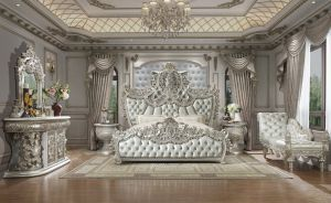 Picasso 5 Pc Bedroom Collection - Silver Finish