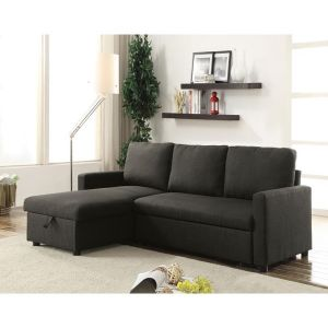 Hiltons Reversible Sectional Sofa - Charcoal Linen