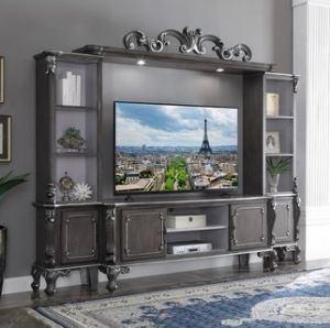House Delphine Entertainment Center - Charcoal Finish