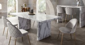 Icon Dining Collection - Faux Marble Top