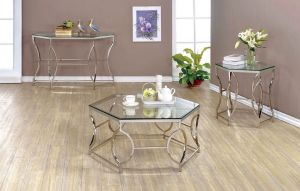 Zola Occasional Tables - Chrome Finish