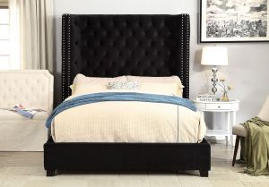 Mirabelle Wingback Bed Collection - 3 Fabric Choices