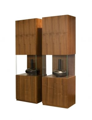 Iris Curio Cabinet - Walnut or Wenge Finish