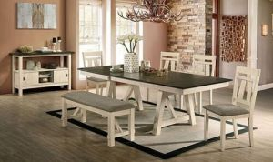 Jamestown 6 Pc Dining Collection - 2 Retractable Leaves