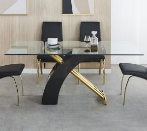 Kamm Dining Collection - Black or White Finish