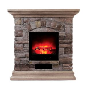 Juno Faux Stone Fireplace