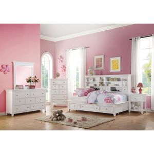 Lacey Bedroom Collection - Bookcase Storage Headboard