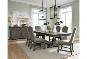 LaSalle Dining Collection - Classic Trestle Dining Table