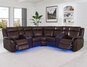 Levin 3-Piece Power Reclining Sectional - Cocoa or Black